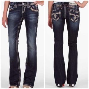 Rock Revival Amy Boot Cut Jeans Dark Wash